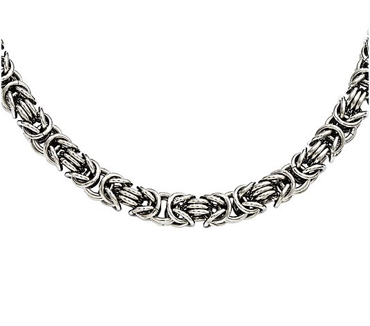 "Steel By Design 18"" Fancy Byzantine Chain Necklace"