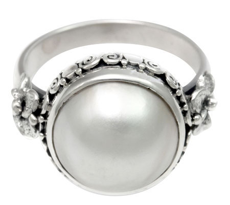 Novica Artisan Crafted Sterling White CulturedMabe Pearl Ring