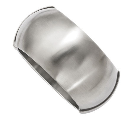 Stainless Steel Brushed Hinged Bangle