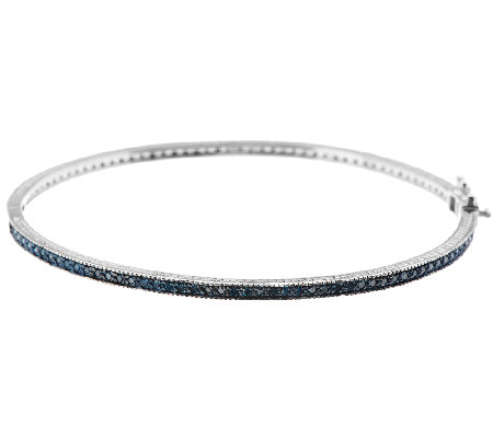 Color Eternity Diamond Bangle, Sterling, 8/10 cttw, by Affinity