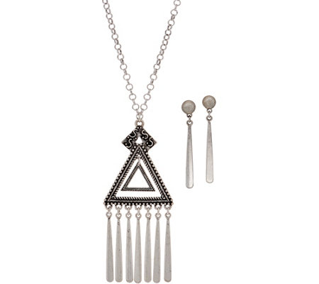 Linea by Louis Dell'Olio Inca Necklace and Paddle Earring