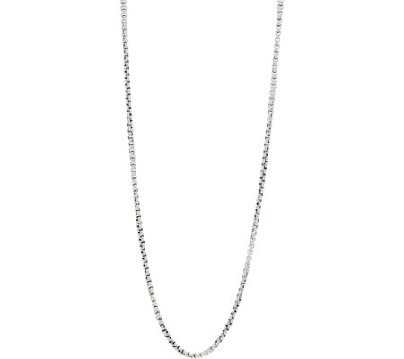 "JAI Sterling Silver 3.7mm Box Chain 36"" Necklace, 48.9g"