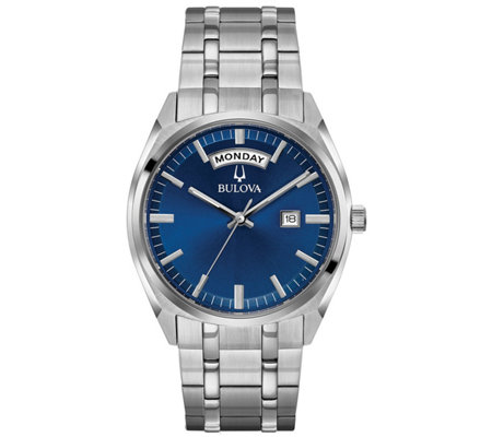 Bulova Men's Classic Blue Dial Dress Watch