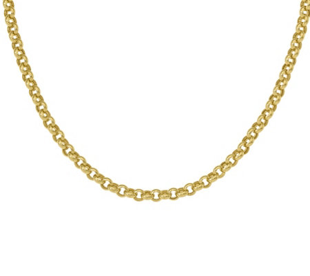 14K Bold Rolo Link Necklace, 16.0g
