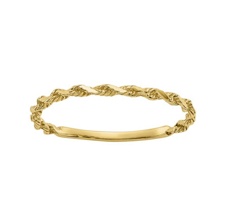 14K Gold Twisted Rope Ring