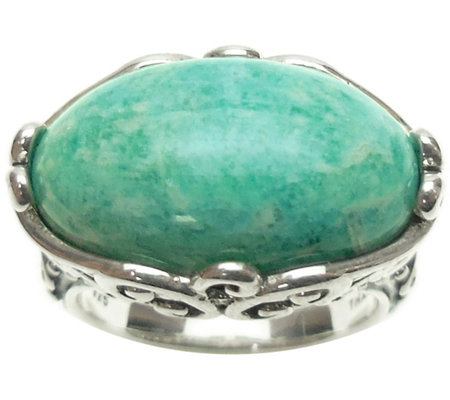 Elyse Ryan Sterling Bold Oval Gemstone Ring