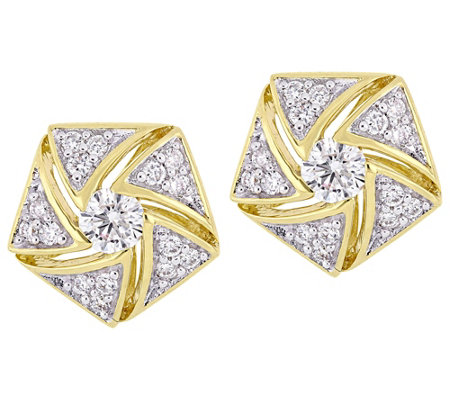 Affinity 14K 1/2 cttw Diamond Cluster Stud Earrings