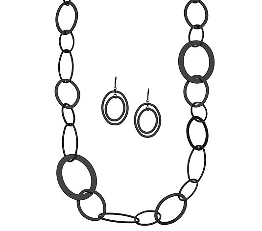 Linea by Louis Dell'Olio Link Necklace & Earring Set