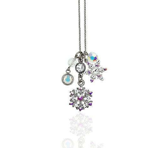 Anne Koplik Swarovski Crystal Snowflake JumbleCharm Necklace