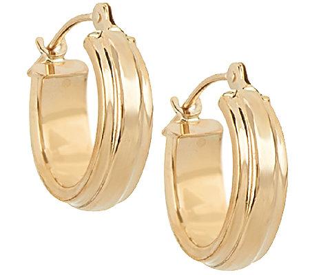 18k Gold Polished Huggie Hoop Earrings