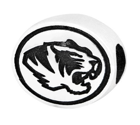 Sterling Silver University of Missouri Bead