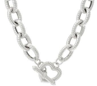Judith ripka necklaces jewelry qvc judith ripka 20 sterling verona heart clasp necklace 1240g j341805 aloadofball Gallery