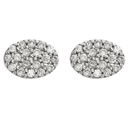 Dainty Designs 14K 1/4 cttw Diamond Oval Earrings