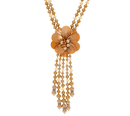 "Joan Rivers Simulated Pearl Starlet Style 22"" Necklace w/3"" Extender"