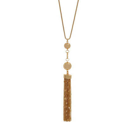 Belle by Kim Gravel EmBELLEish Necklace with Goldtone Beads