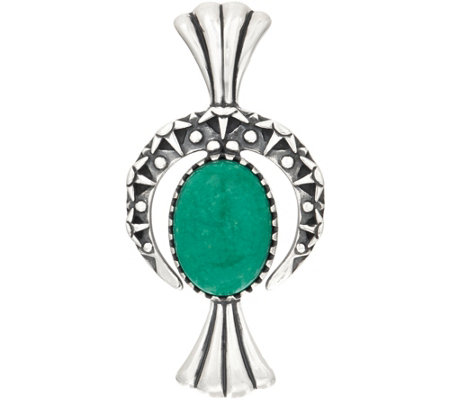 Fritz Casuse Sterling Silver Turquoise Naja Enhancer