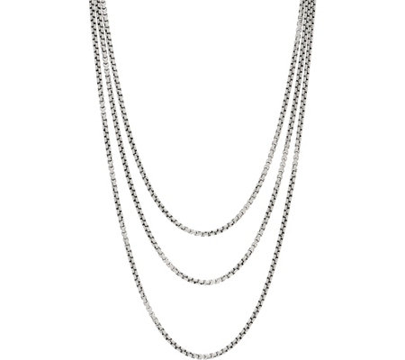 Jai Sterling Silver 3 7mm Box Chain 72 Necklace 96 4g