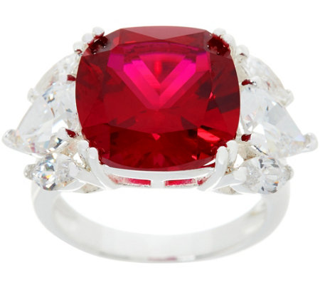 """As Is"" Heritage Jewelry Choice of Simulated Gemstone Ring"