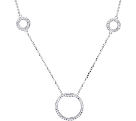 Diamond Circle Station Necklace, 14K, 8/10 cttw, by Affinity