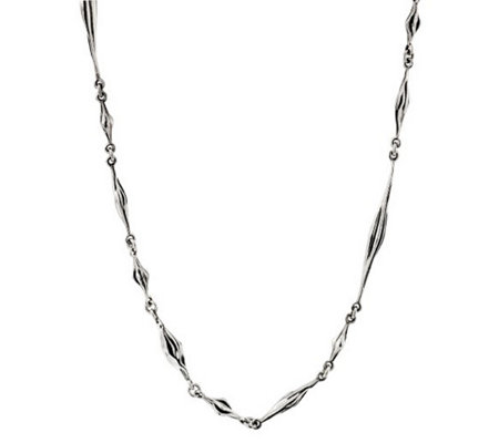 "Hagit Sterling Silver 34"" Polished Necklace"