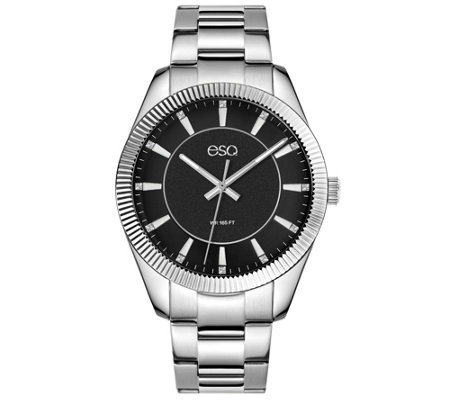 ESQ Men's Stainless Steel Watch with Crystal Accent Dial
