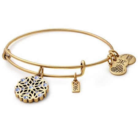 Alex and Ani Snowflake Charm Bangle
