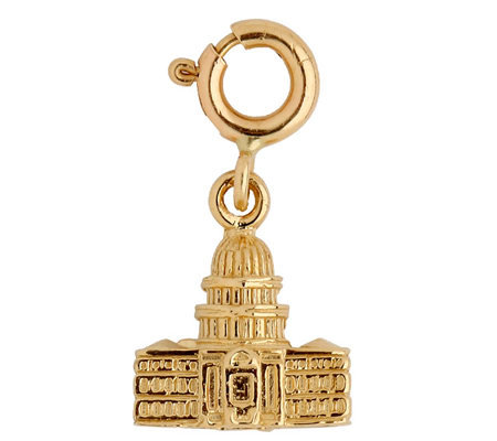 14K Yellow Gold 3-D Washington Capitol Charm