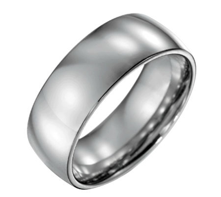 Forza Men's 8mm Steel Polished Ring