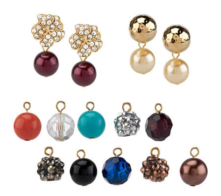 Kenneth Jay Lane S Set Of Interchangeable Earrings