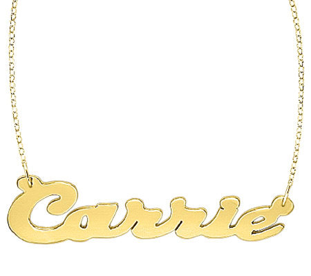 24K Yellow Gold-Plated Sterling Polished Personalized Necklace