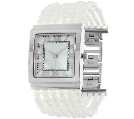 Joan Rivers Ladies Who Lunch Simulated Pearl Watch