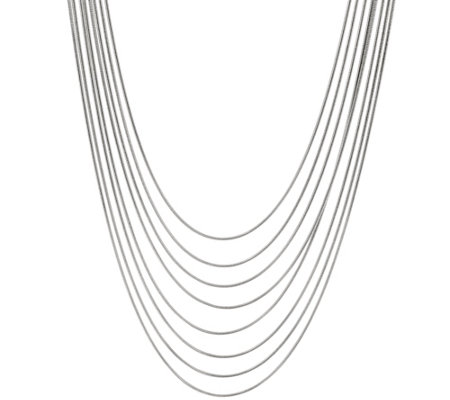 """As Is"" Bronze 8-Strand Snake Chain Necklace by Bronzo Italia"