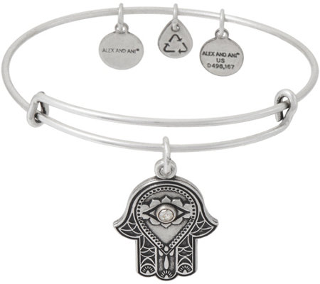 Alex and Ani Hand of Fatima Charm Bangle