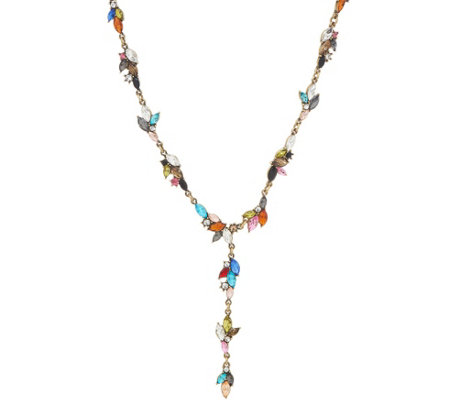 LOGO Links by Lori Goldstein Marquise Lariat Necklace