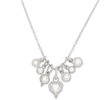 Judith Ripka Sterling 9.50 cttw Diamonique Charm Necklace