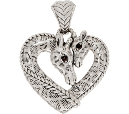 JAI Sterling Silver Giraffe Heart Enhancer, 17.3g