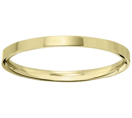 Men's 18K Yellow Gold 2.5mm Flat Wedding Band