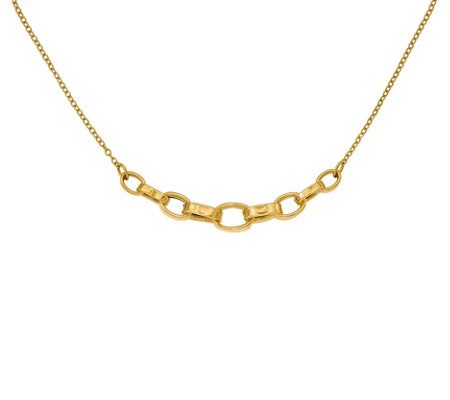 Italian Gold Cable Link Necklace, 14K