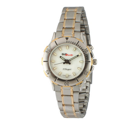 Peugeot Women's GLO-Brite Two-Tone Stainless Steel Watch