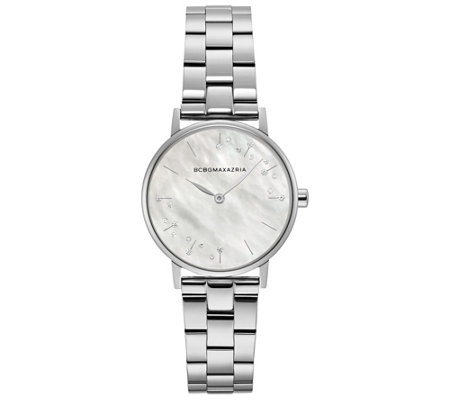 BCBGMAXAZRIA Women's Stainless Steel Bracelet Watch
