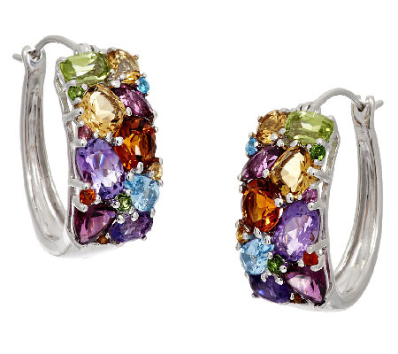 master tw cut multi product sterling page ct gemstone earrings hoop