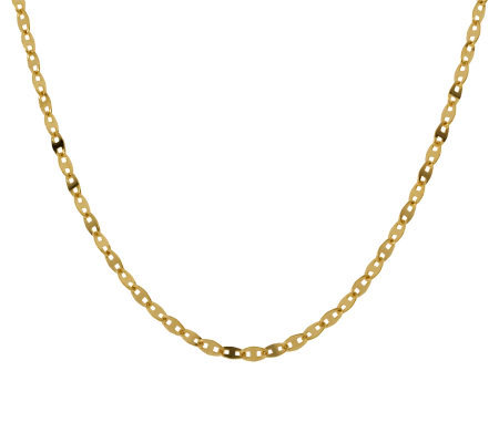 Veronese 18K Clad 18&quot Glam Chain Necklace