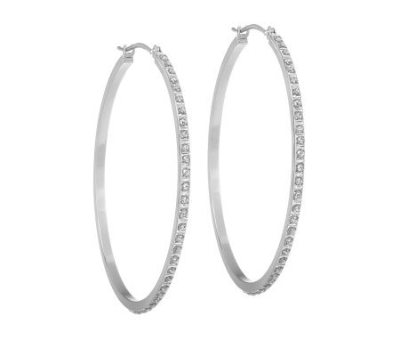 Diamond Fascination 1 3 4 Hoop Earrings 14k White Gold