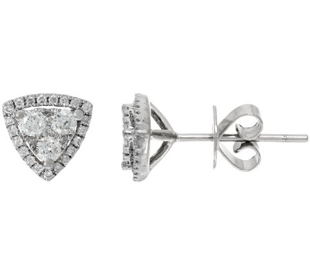 Halo Trillion Cluster Stud Earrings, 14K, 1/2 cttw, Affinity
