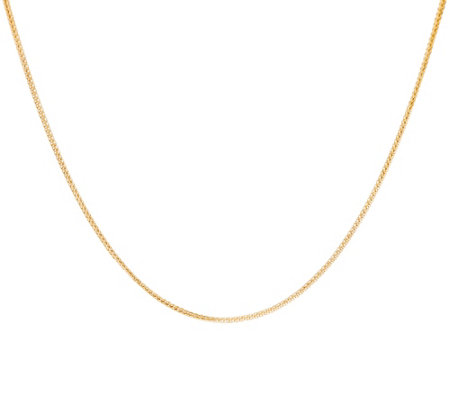 "EternaGold 18"" Diamond Cut Wheat Necklace 14K Gold, 2.0g"