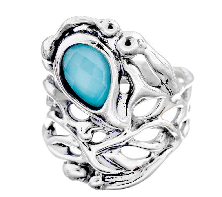 Hagit Sterling Silver & Turquoise Doublet Ring