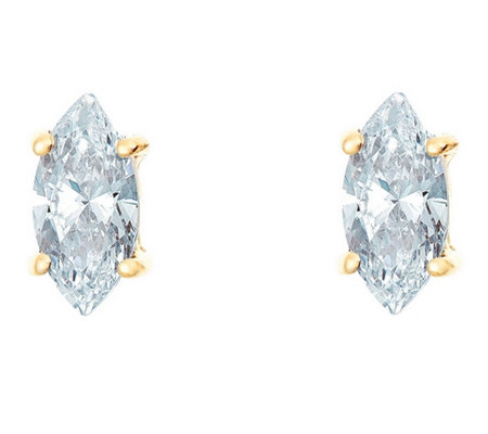 Affinity 1/2 ct Marquise Diamond Earrings, 14K Yellow Gold