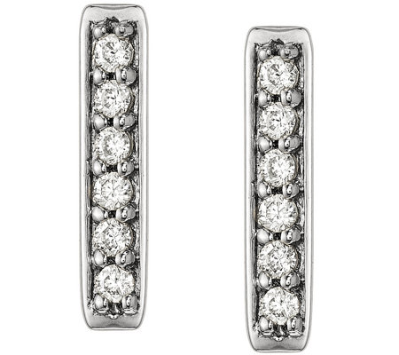 Dainty Designs 14k 1 10 Cttw Diamond Bar Earrings