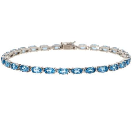 Santa Maria Aquamarine 7 1 4 Tennis Bracelet 5 20 Cttw 14k