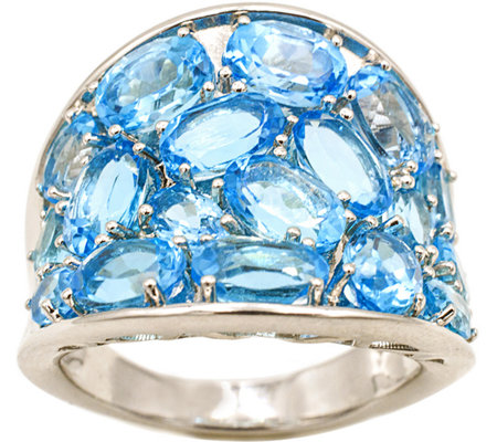Sterling 7.00 cttw Sky Blue Topaz Tapered BandRing